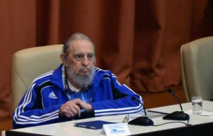 """Handout picture released by Cuban Agency ACN showing Cuban Former President Fidel Castro applauding during the closing ceremony of VII Congress of Cuban Communist Party (PCC) at Convention Palace in Havana, on April 19, 2016. """"Cuba will never permit the application of so-called shock therapies, which are frequently applied to the detriment of society's most humble classes,"""" said Raul Castro in a lengthy speech opening the congress, which takes place every five years and will stretch on for several days. / AFP PHOTO / ACN / OMARA GARCIA MEDEROS / RESTRICTED TO EDITORIAL USE - MANDATORY CREDIT """"AFP PHOTO / AGENCIA CUBANA DE NOTICIAS"""" - NO MARKETING NO ADVERTISING CAMPAIGNS - DISTRIBUTED AS A SERVICE TO CLIENTS"""