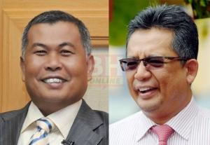 AHMAD Razif membuat kejutan apabila menyenaraikan bekas menteri besar, Ahmad Said (kiri) sebagai Timbalan EXCO Terengganu. - Foto NSTP